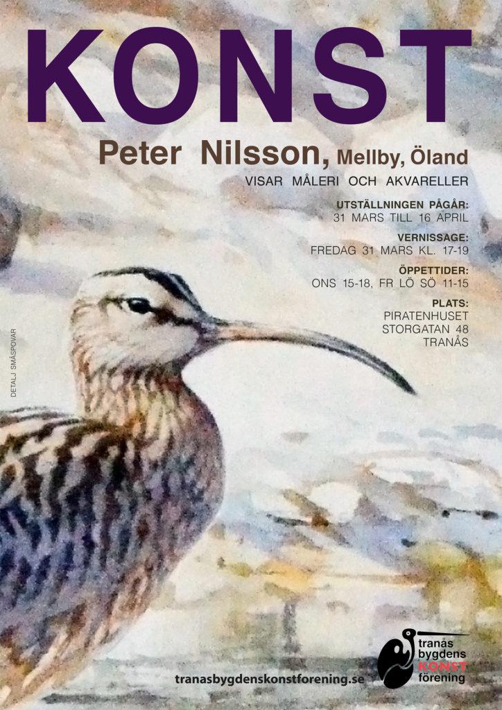 Peter Nilsson visar måleri och akvareller